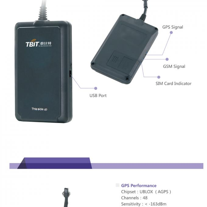 50g Net Weight GPS Tracker Device With 3D Acceleration Sensor For Vehicle