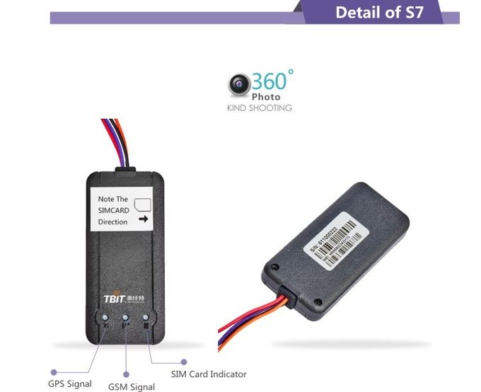 -160dBm Sensitivity Motorcycle Gps Tracking Device With 20~95% Working Humidity