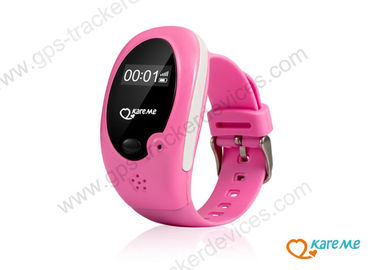 China Pink Girls Child Tracking Device Watch With Remote Monitoring And GPS Position supplier
