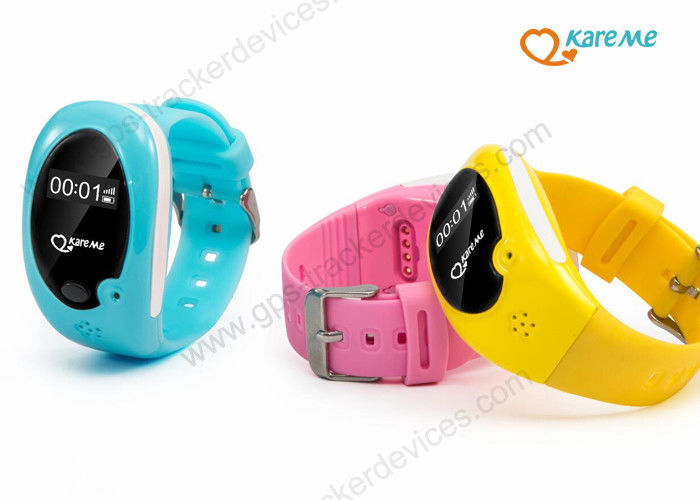 Small Personal Gps Tracker Child Locator Watch Bracelet With Time Showing