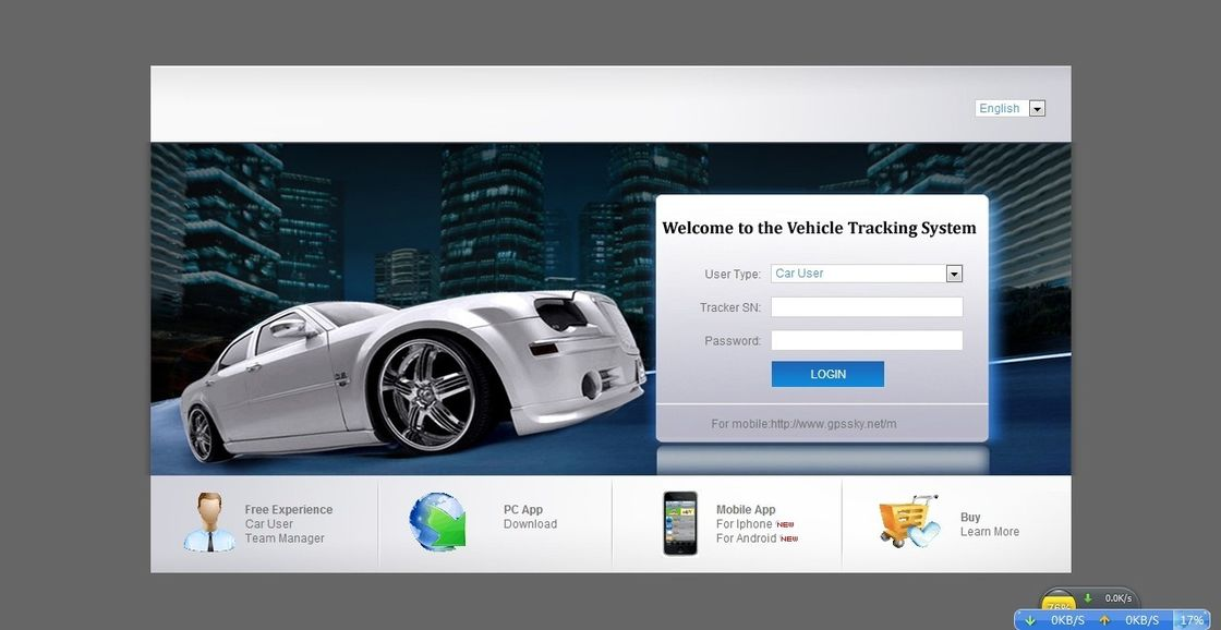 Fleet Management GPS Tracking Server Software , GPS Tracker