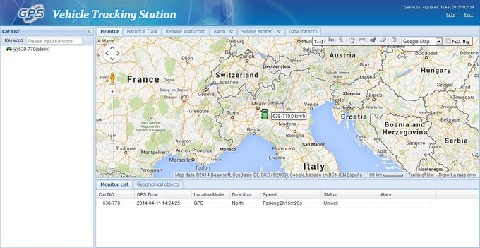 GPS Vehicle Tracking Software / GPS Tracking Platform With Online Web