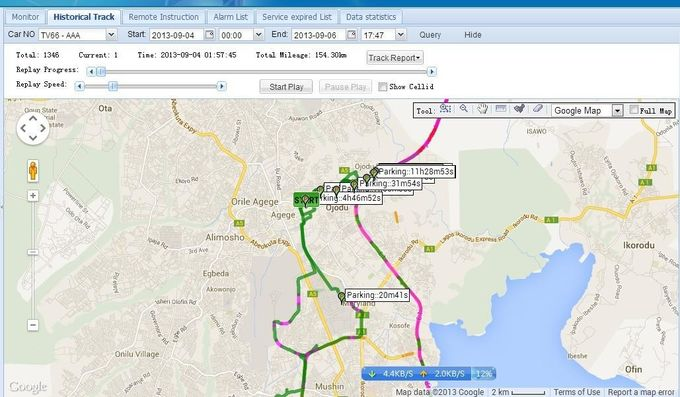 All Maps Web Based GPS Vehicle Tracking System Software Support Multi Language